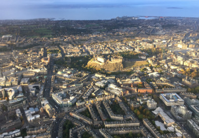 Extended City of Edinburgh Helicopter Tour