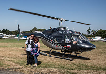 12 Mile Blue Skies Helicopter Flight with FREE Bubbly