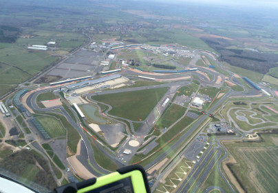 Spectacular Silverstone Helicopter Lesson